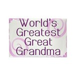 World's Greatest Great Grandma Rectangle Magnet (1