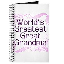 World's Greatest Great Grandma Journal