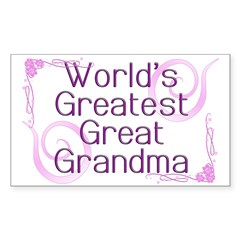 World's Greatest Great Grandma Decal