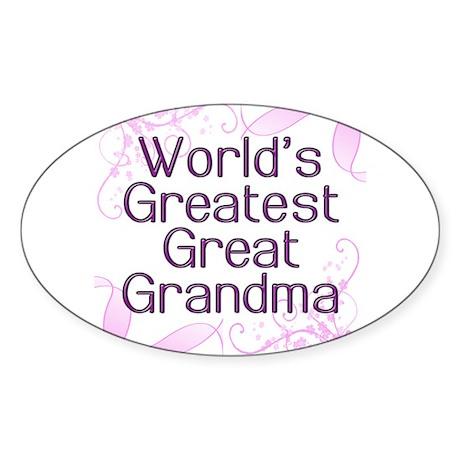 World's Greatest Great Grandma Sticker (Oval)