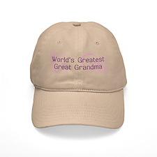 World's Greatest Great Grandma Baseball Cap