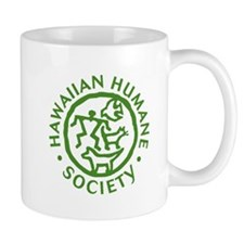 Hawaiian Humane Society green circle logo Mugs