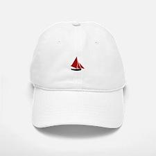 Red Sail Boat Baseball Baseball Baseball Cap