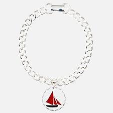 Red Sail Boat Bracelet