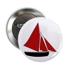"Red Sail Boat 2.25"" Button (10 pack)"