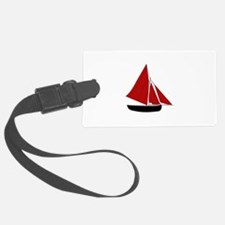 Red Sail Boat Luggage Tag