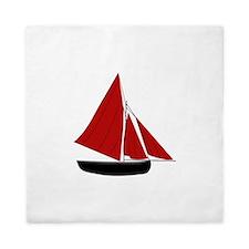 Red Sail Boat Queen Duvet