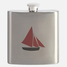 Red Sail Boat Flask