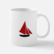Red Sail Boat Mugs