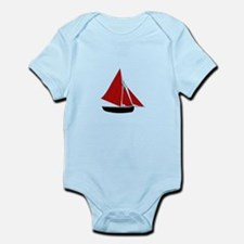 Red Sail Boat Body Suit