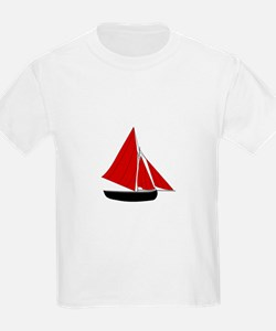 Red Sail Boat T-Shirt