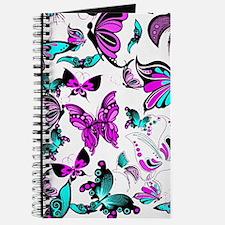 Teal and purple butterflies Journal
