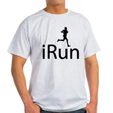 iRun Man Black T-Shirt