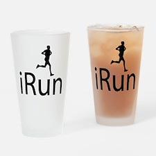 iRun Man Black Drinking Glass