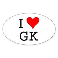 I Love GK Oval Decal