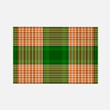 Track and Field Plaid Rectangle Magnet