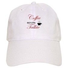 coffee before talkie 2 Baseball Baseball Cap