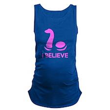 I Believe (in Nessie) Maternity Tank Top
