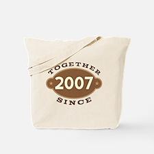 2007 Wedding Anniversary Tote Bag