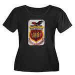 USS SARA Women's Plus Size Scoop Neck Dark T-Shirt