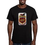 USS SARATOGA Men's Fitted T-Shirt (dark)