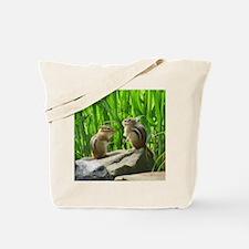 Two Chipmunks Tote Bag