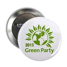 "Green Party 2015 2.25"" Button"