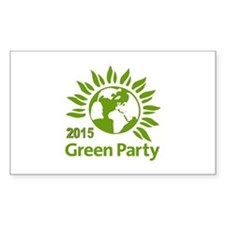 Green Party 2015 Sticker (rectangle)
