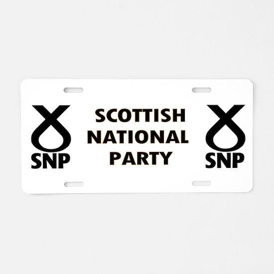 SNP Aluminum License Plate