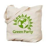 Green party Canvas Totes