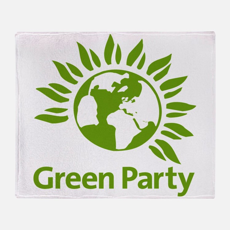 The Green Party Throw Blanket