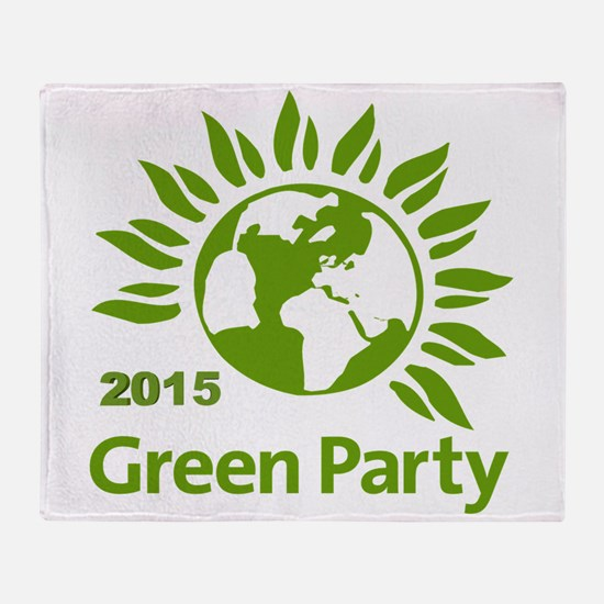 Green Party 2015 Throw Blanket