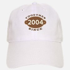 2004 Wedding Anniversary Baseball Baseball Cap
