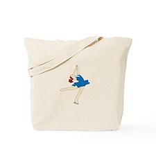 Ice Skate Spin Tote Bag