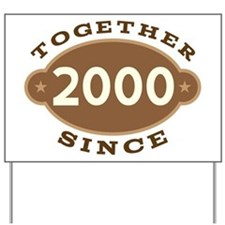 2000 Wedding Anniversary Yard Sign