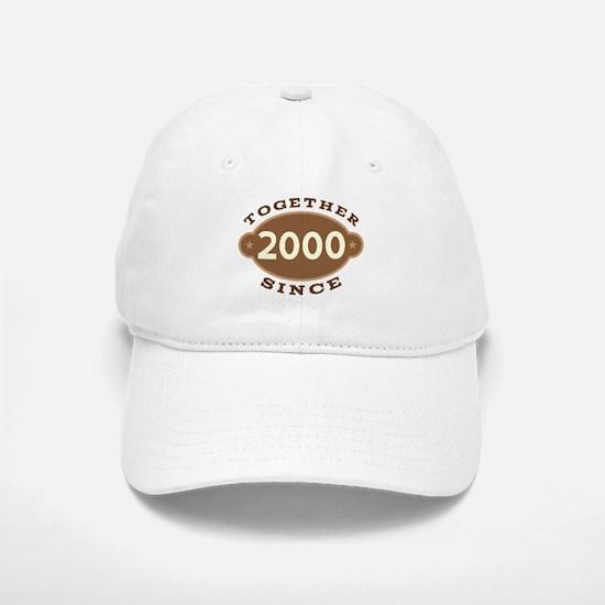 2000 Wedding Anniversary Baseball Baseball Cap