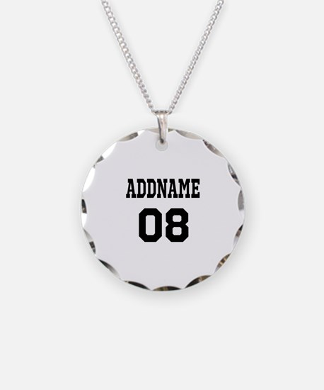 Custom Sports Theme Necklace Circle Charm