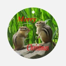 Two Chipmunks Ornament (Round)