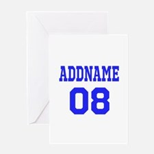 Blue Jersey Style Custom Greeting Card