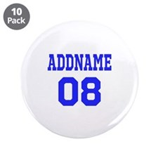 """Blue Jersey Style Custom 3.5"""" Button (10 pack)"""