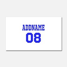 Blue Jersey Style Custom Car Magnet 20 x 12