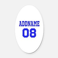 Blue Jersey Style Custom Oval Car Magnet