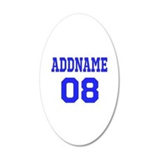 Blue Jersey Style Custom Wall Decal