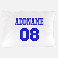 Blue Jersey Style Custom Pillow Case