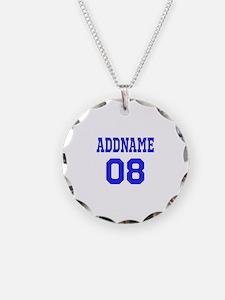 Blue Jersey Style Custom Necklace