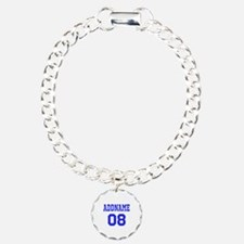 Blue Jersey Style Custom Bracelet