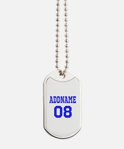 Blue Jersey Style Custom Dog Tags