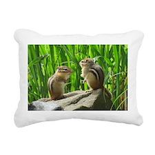 Two Chipmunks Rectangular Canvas Pillow