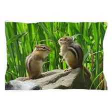 Two Chipmunks Pillow Case