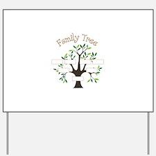 Family Tree Yard Sign